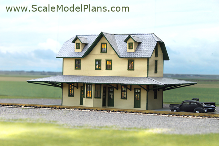 Cardstock structures for model railroads and dioramas for Railroad depot plans