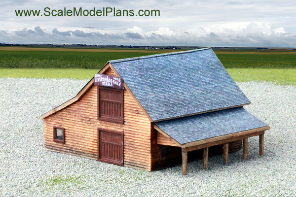 garden scale 1:24 livery stable structure plans